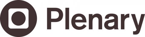 Plenary logo. Brown circle and rounded white square inside
